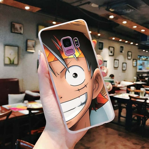 One Piece Phone Case Samsung <br> Smiling Luffy - Luffy Shop