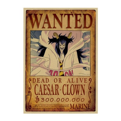one piece caesar wanted poster