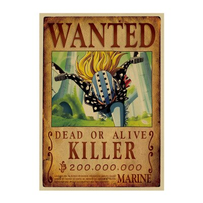 one piece killer wanted poster