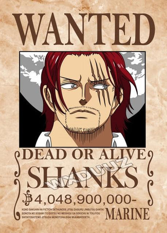 shanks bounty poster