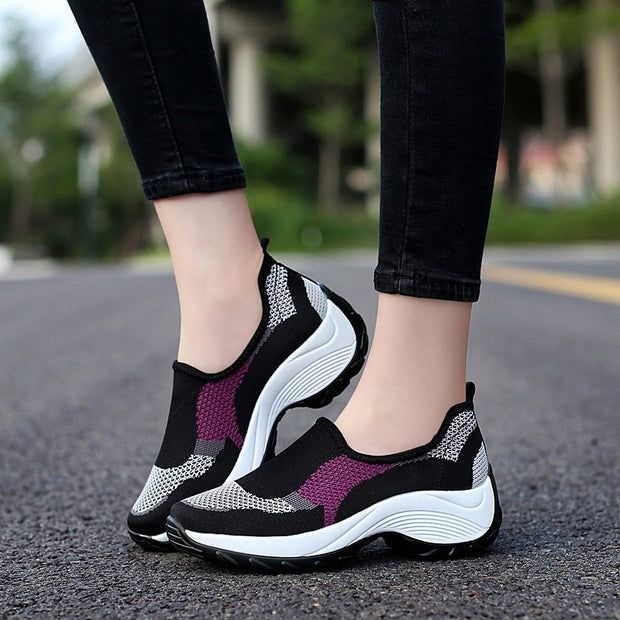 Women's Thick-heels Slip-on Casual Shoes