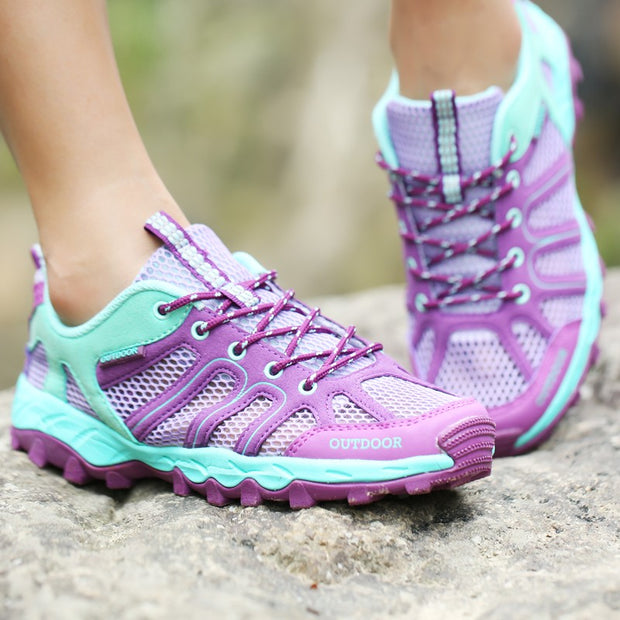 Women's Hollowed-out Outdoor Waterproof Hiking Shoes