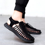 Man's Flat Strappy Sandals Shoes