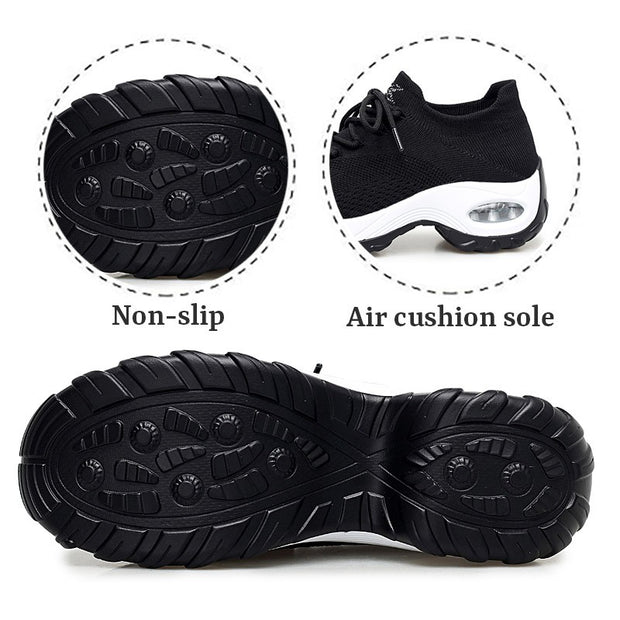 Women's Flying Woven Non-slip Breathable Comfortable Shoes rubber