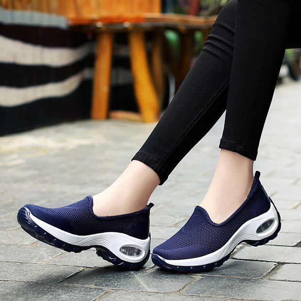 Fashion Flying Woven Cosy Walking Shoes