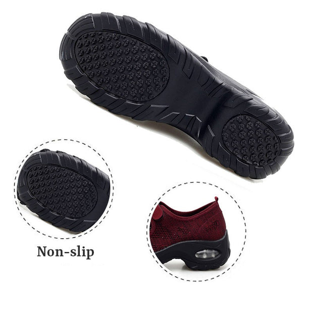 Women's All Black or All White Breathable Comfortable Hollow Shoes rubber