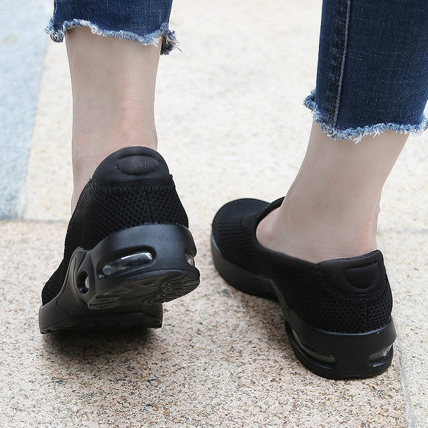 Women's air-cushion breathable leisure heel slippers