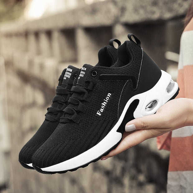 Women's breathable trendy cushion comfortable sneakers
