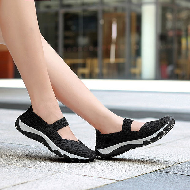 Women's stylish breathable slip-on casual flat loafers