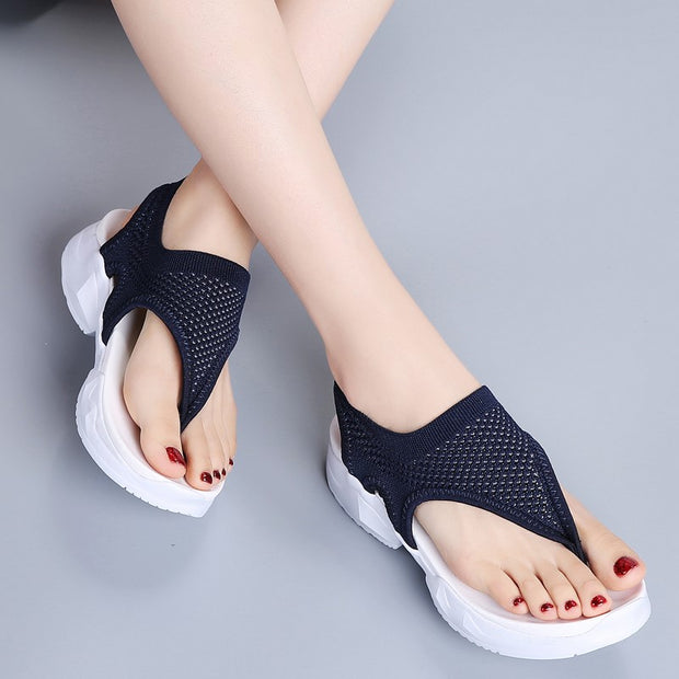 Women's cute simple pretty leisure slip-on flip flop sandals