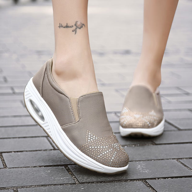 Women's air cushion breathable casual street slip-on loafers
