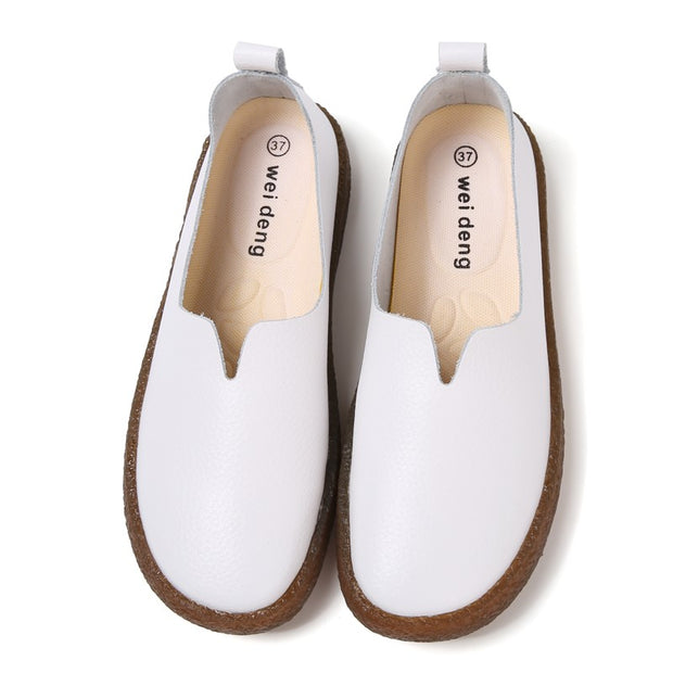 womens brown flats