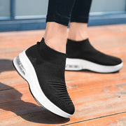 Women's fashion simple air cushion platform high top loafers