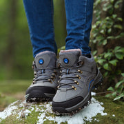 Women's winter fashion thermal suede outdoor hiking high top sneakers