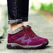 Women's winter thermal villi leather platform fashion high top boots