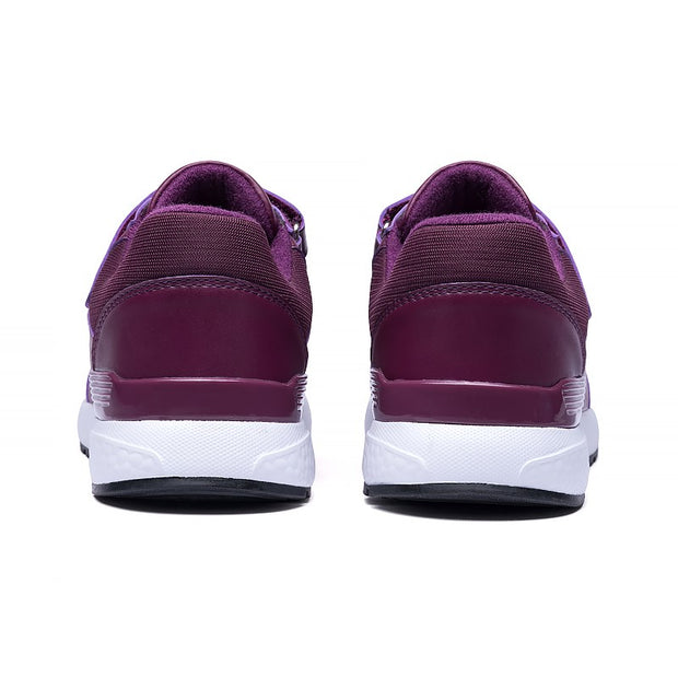 Women's platform leather quality buckle casual sneakers