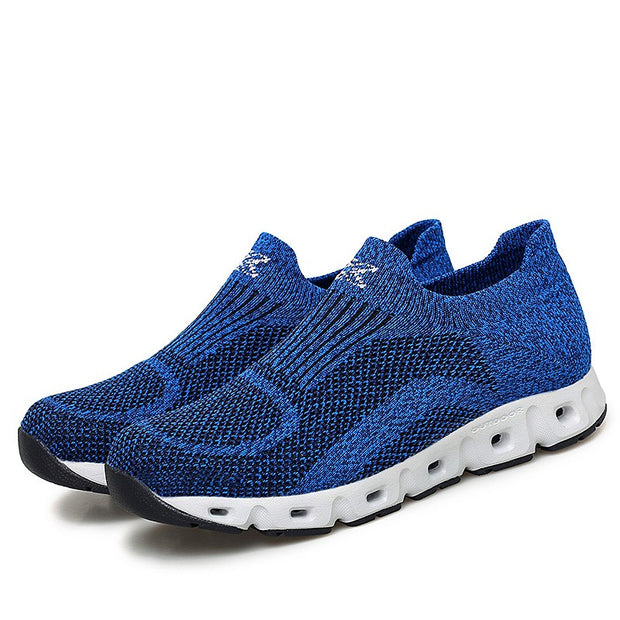 Man's cushion mesh fabric breathable comfortable sneakers