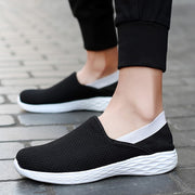 Man's breathable leisure fashion slip-on flat wide loafers