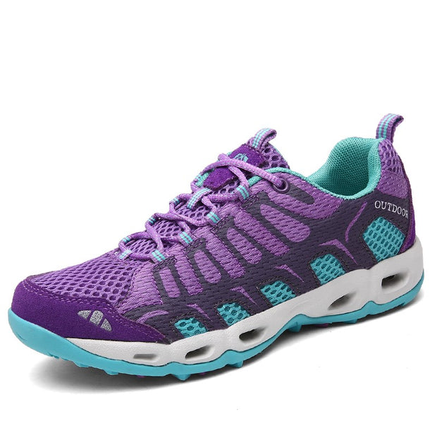 Women's breathable anti-skid air-cushion hiking sneakers