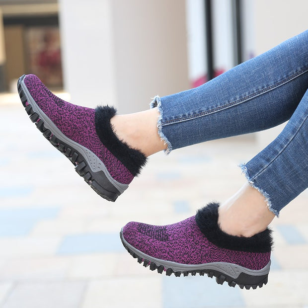 Women's winter warm plush non-slip joker sneakers