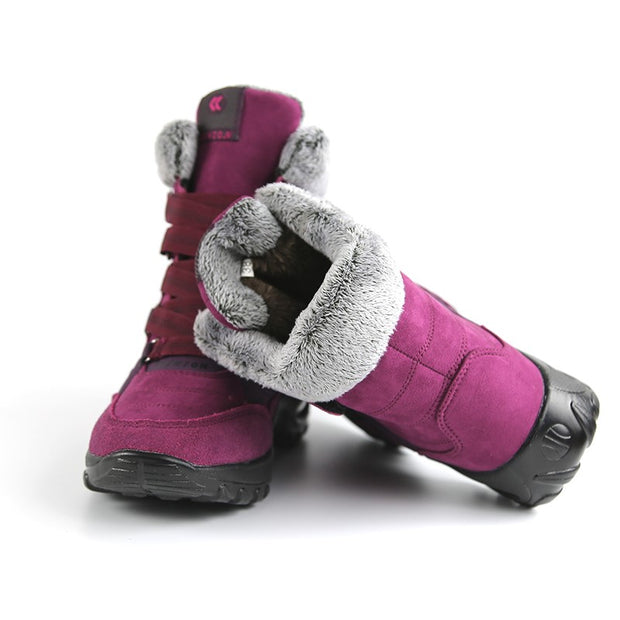 Women's thermal winter plush anti-skid suede boots