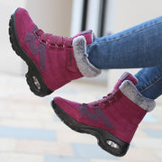Women's thermal winter plush anti-skid suede boots CCL
