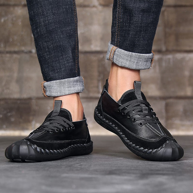 Man's leather quality dressy leisure platform shoes