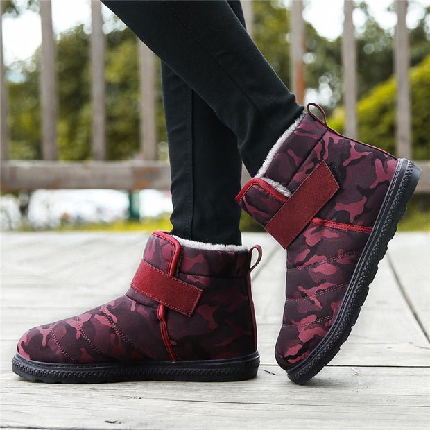 Women's winter thermal plush velcro comfortable snow boots
