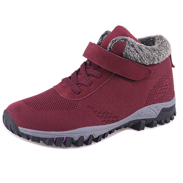 Women's villi suede thermal non-slip fashion platform sneakers CL