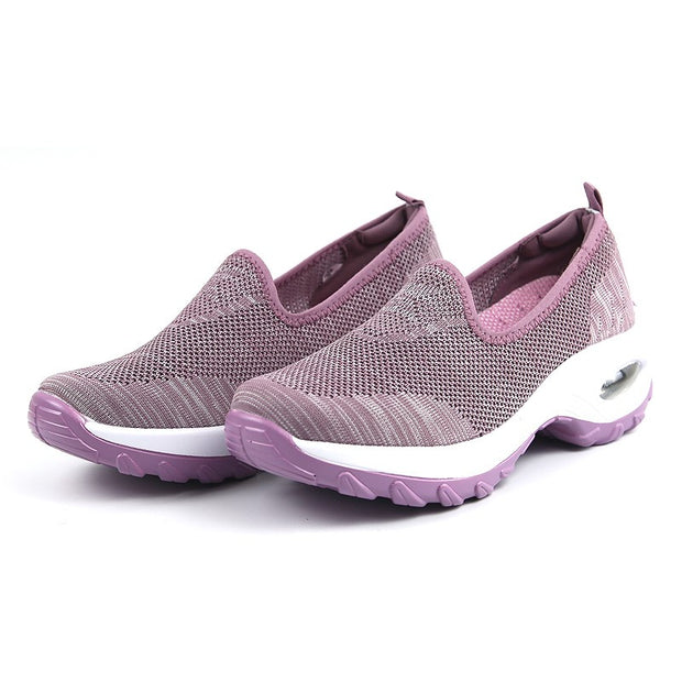 Women's Fashion Flying Woven Cosy Walking Shoes