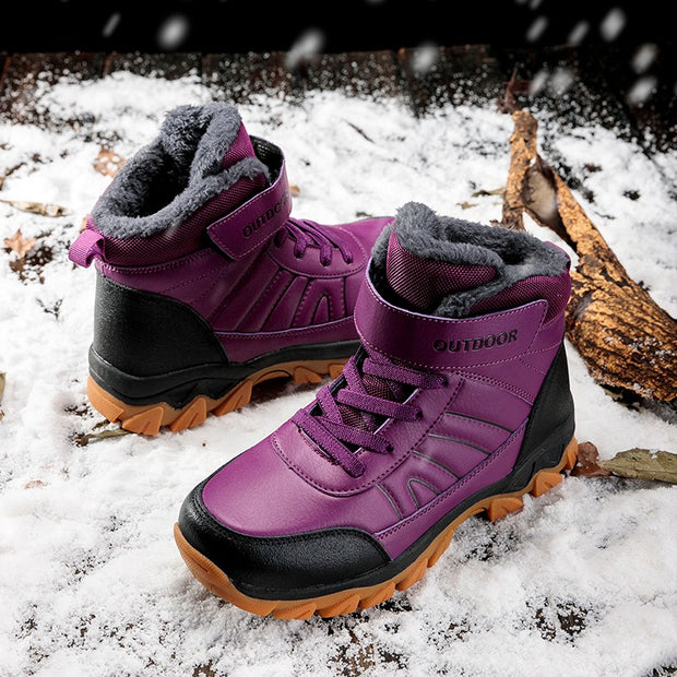 Women's winter thermal velcro non-slip outdoor hiking boots