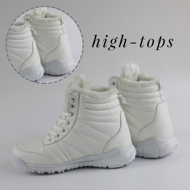 Women's autumn winter thermal plush hiking high top shoes CL