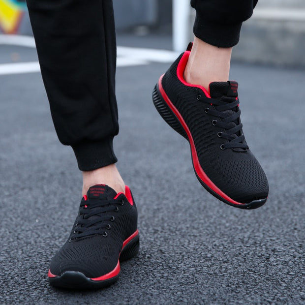 Man's simple fashion joker platform breathable leisure sneakers