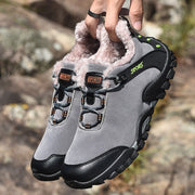 Man's winter thermal villi athletic stylish non-slip hiking sneakers