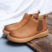Man's simple fashion joker platform comfortable high top boots