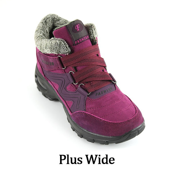 Women's winter thermal villi slip resistant wide boots