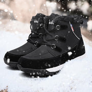 Women's winter thermal plush outdoor activities anti-skid snow boots