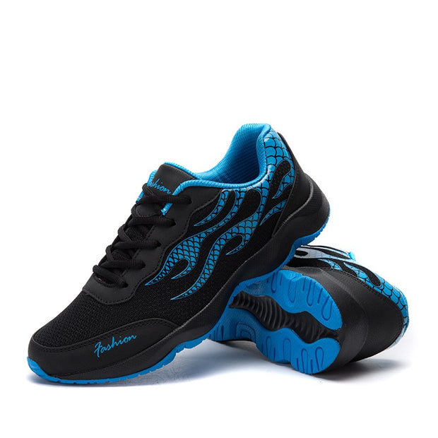 Man's breathable non-slip elastic comfortable sporty runnning sneakers