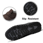 Man's winter thermal velvet suede slip resistant comfortable velcro slip-on leisure loafers CL