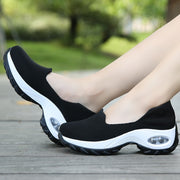 Women's breathable summer spring wedge air cushion elastic leisure jogging sneakers