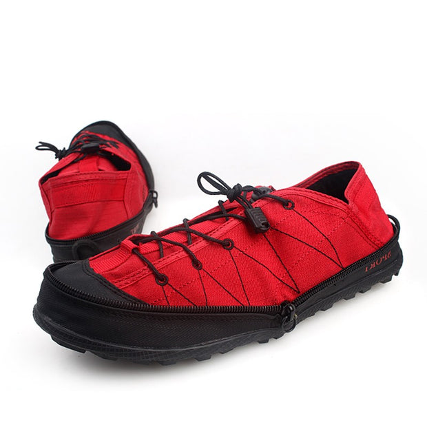 Women's neutral fashion joker outdoor hiking zipper foldable shoes