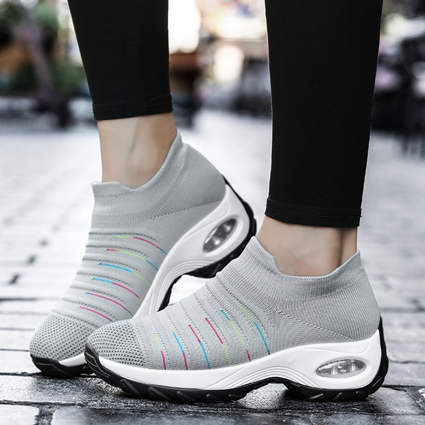Women's air cushion joker breathable lightweight leisure sneakers