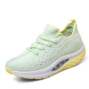 Women's breathable air cushion wedge running jogging leisure sneakers