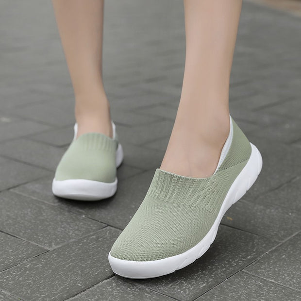 Women's elastic simple casual flat soft loafers
