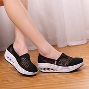 Women's breathable summer spring street wedge loafers