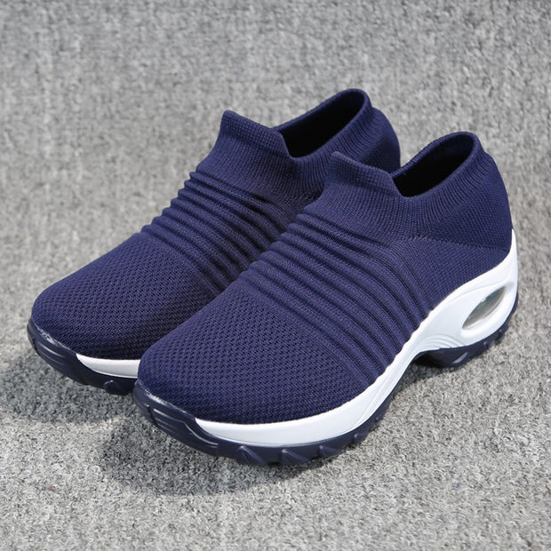 Women's fashion stylish breathable elastic leisure sneakers
