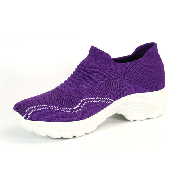 women's simplism style breathable elastic lightweight running shoes