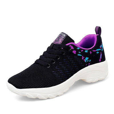 women's chic popular joker breathable elastic non-slip running jogging sneakers