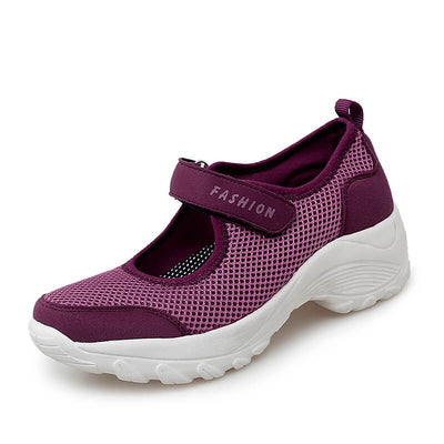 women's classic fashion elastic mesh breathable non-slip running sneakers