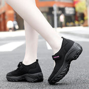 women's classic fashion elastic mesh breathable non-slip running sneakers rubber
